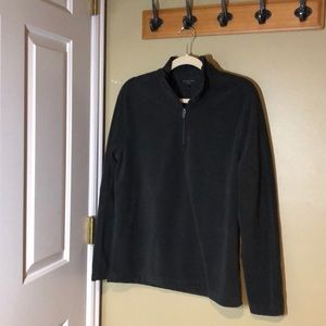 Banana Republic Fleece Jacket sz M Dark Green